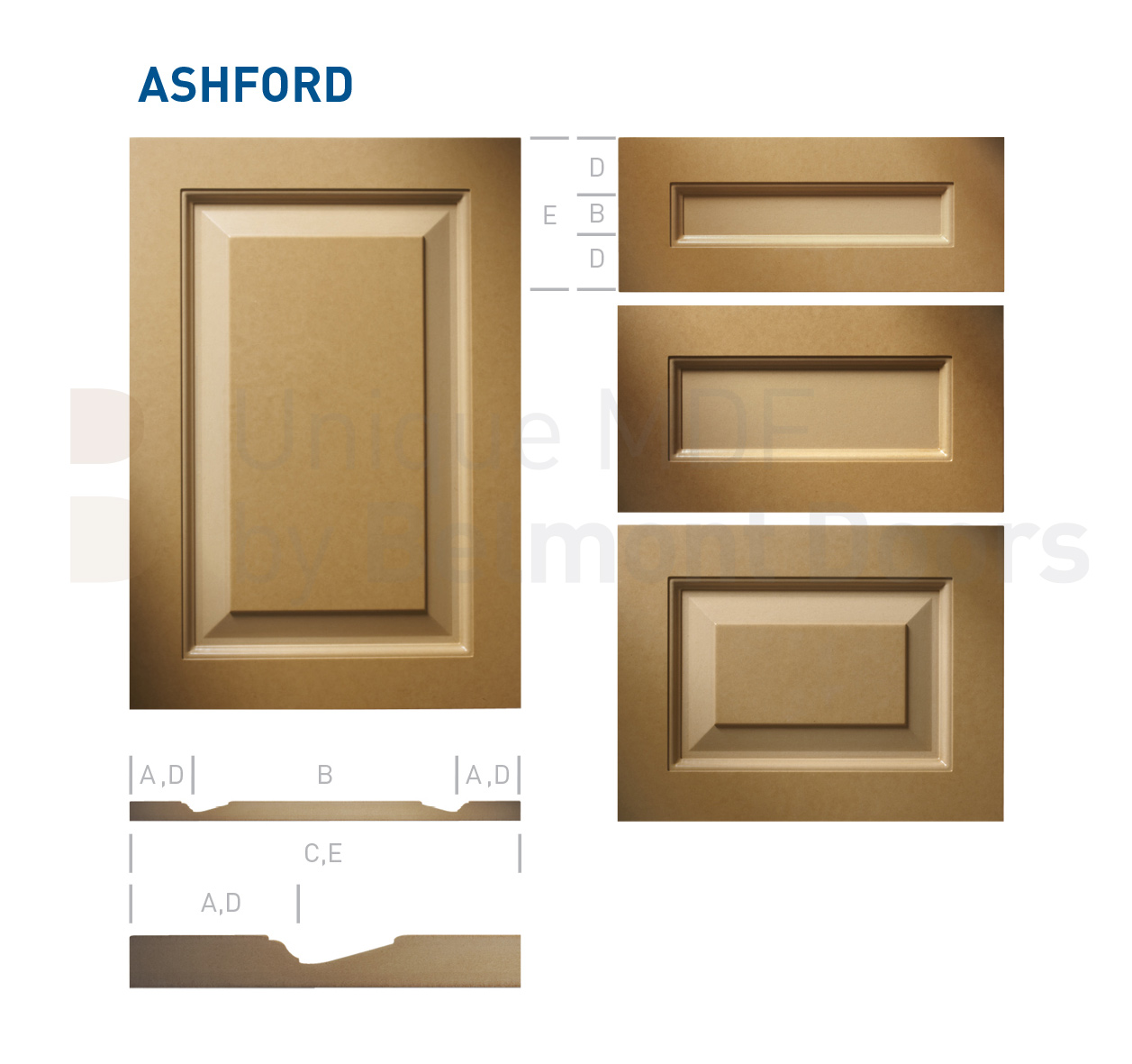 ASHFORD Collection (Traditional Kitchen Cabinet Door Style MDF Set 15)