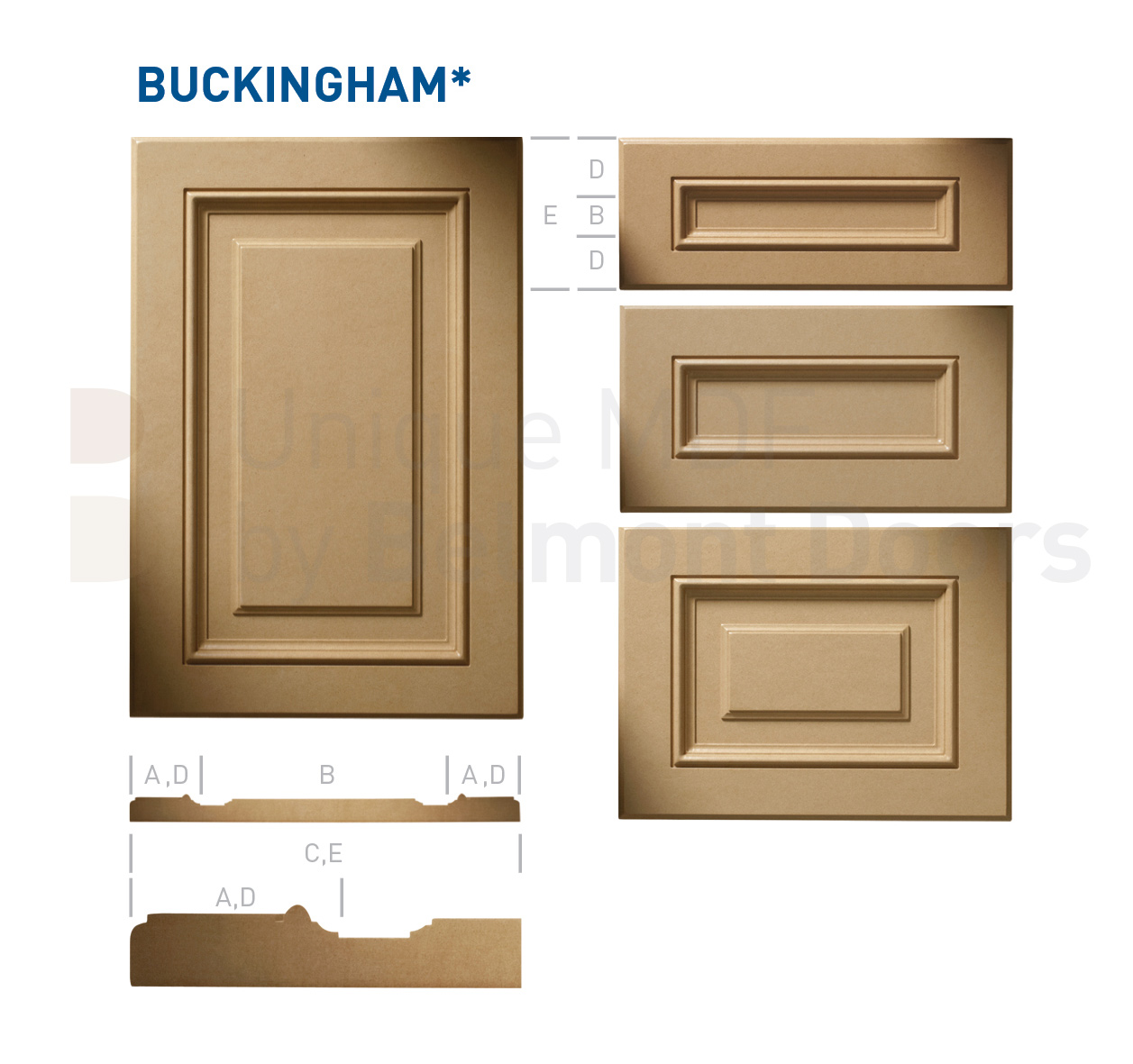 BUCKINGHAM* Collection (Classic Kitchen Cabinet Door Style MDF Set 11)