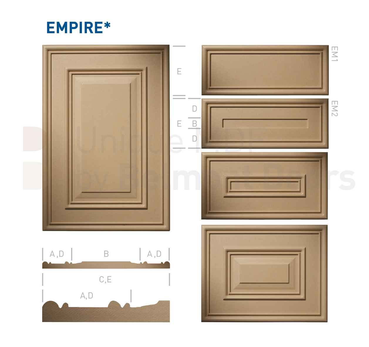EMPIRE* Collection (Classic Kitchen Cabinet Door Style MDF Set 10)