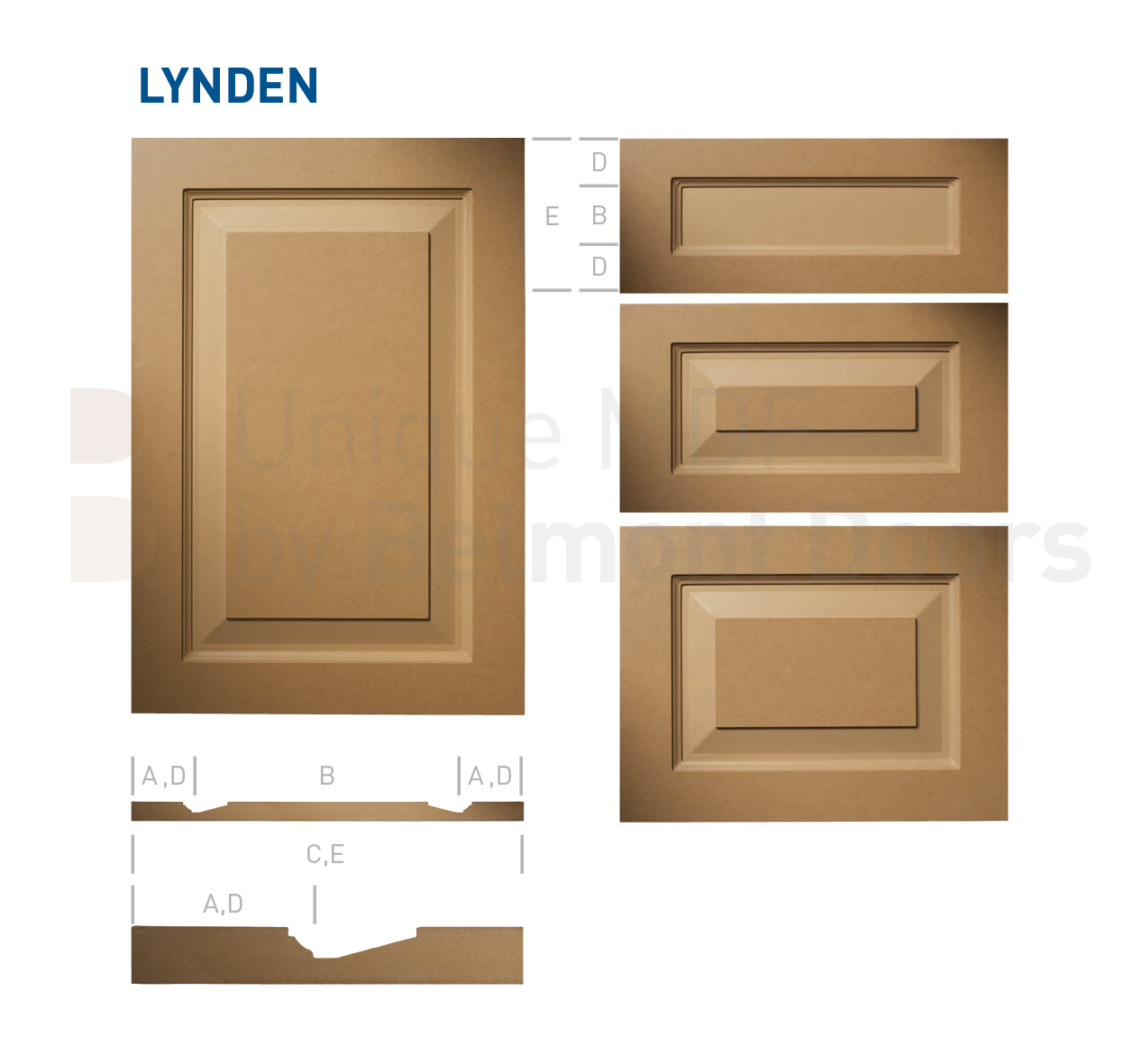 LYNDEN Collection (Traditional Kitchen Cabinet Door Style MDF Set 13)