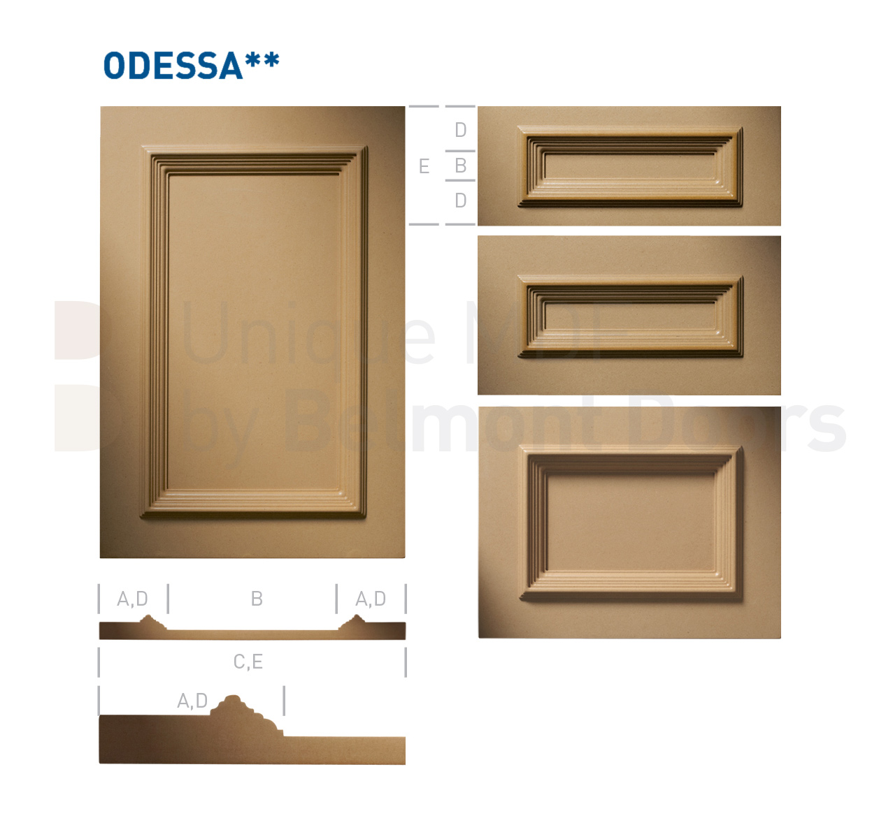 ODESSA** Collection (Classic Kitchen Cabinet Door Style MDF Set 9)