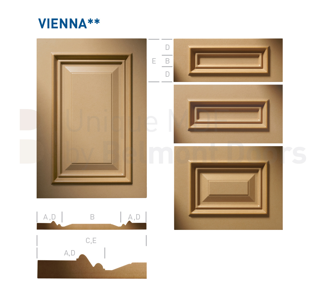 VIENNA** Collection (Classic Kitchen Cabinet Door Style MDF Set 15)